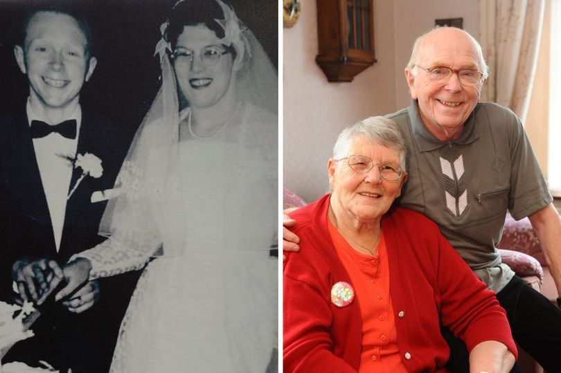 Diamond couple who have been married for 60 years celebrate two big milestones on the same day