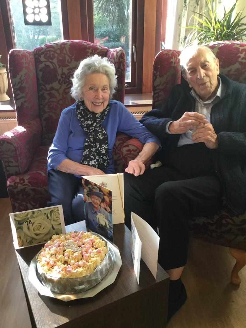 Married couple who met in RAF during Second World War celebrate 70th wedding anniversary